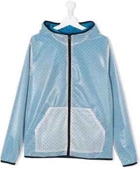 Emporio Armani Kids TEEN lightweight monogram jacket