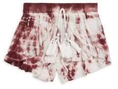 Vintage Havana Girl's Tie-Dye Tassel Shorts