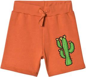 Mini Rodini Orange Donkey Cactus Sweat Shorts