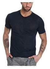 Cruciani Men's Blue Linen T-shirt.