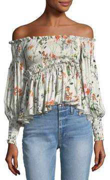 Alexis Elsa Off-the-Shoulder Floral-Print Top