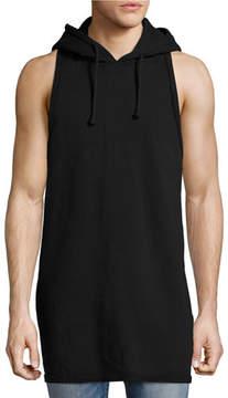 Hudson Men's Sleeveless Pullover Hoodie, Black