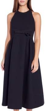 Dice Kayek Midi Halter Crepe Dress Black