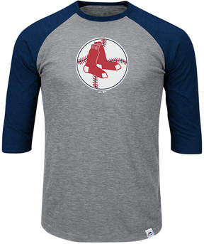 Majestic Men's Boston Red Sox Coop Grueling Raglan T-shirt