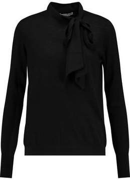 Autumn Cashmere Pussy-Bow Cashmere Sweater