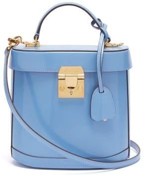 Mark Cross Benchley Patent Leather Shoulder Bag - Womens - Light Blue