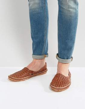 Dune Freedom Woven Shoes In Tan Nubuck