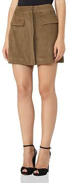 Reiss Marina A-Line Suede Mini Skirt
