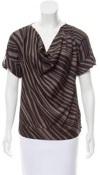 Ella Moss Striped Silk Top