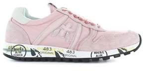 Premiata Women's Pink Fabric Sneakers.