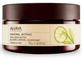 Ahava Mineral Botanic Rich Body Butter Lemon and Sage- 8 oz.
