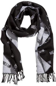 H&M Jacquard-weave scarf - Black
