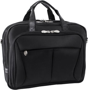 Mcklein McKleinUSA Pearson 17 Nylon Expandable Double Compartment Laptop Briefcase