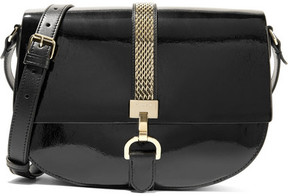 Lanvin - Lien Smooth And Patent-leather Shoulder Bag - Black