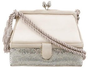 Judith Leiber Crystal-Embellished Satin Evening Bag