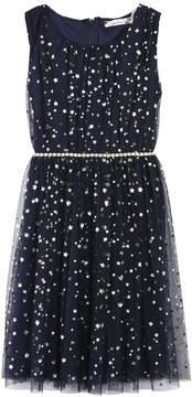 Speechless Girls 7-16 & Plus Size Foil Star Belted Dress