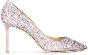 Jimmy Choo Rose Glitter Romy 85 Pumps