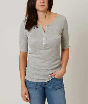 Daytrip Ribbed Henley Top