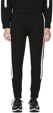 Neil Barrett Black Brush Stroke Lounge Pants