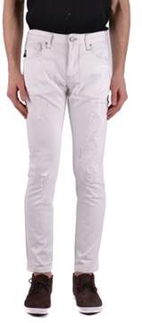 Armani Jeans Men's White Cotton Jeans.