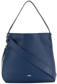 Hogan Women's Blue Leather Shoulder Bag.