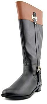 Karen Scott Deliee Wide Calf Women Round Toe Synthetic Black Knee High Boot.