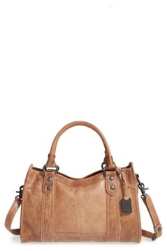 Frye 'Melissa' Washed Leather Satchel - Beige