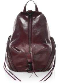 Rebecca Minkoff Medium Julian Leather Backpack - DARK CHERRY - STYLE