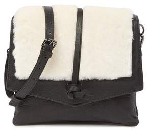 Kooba Yukon Leather & Genuine Shearling Crossbody Bag