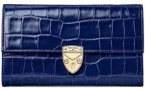 Aspinal of London Mayfair Purse In Midnight Blue Lizard