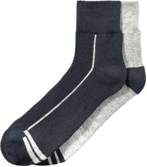 Joe Fresh Men's 2 Pack Sport Socks, JF Midnight Blue (Size 10-13)