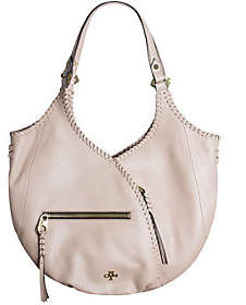 Oryany Pebble Leather Hobo with Whip-Stitching - Demi