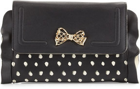 Betsey Johnson Flouncing Around Wallet On A String, Black/White