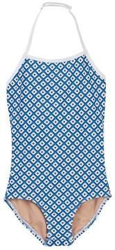 Toobydoo Modernist Geo Print One-Piece Swimsuit (Toddler, Little Girls, & Big Girls)