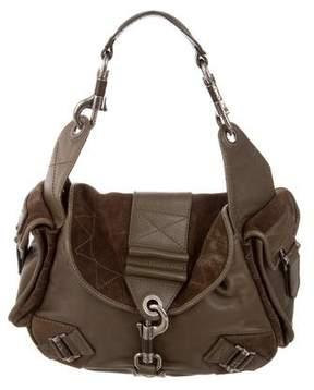 Christian Dior Leather & Suede Shoulder Bag