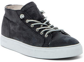 Blackstone Snake Embossed Mid Lace-Up Sneaker
