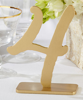 Good As Gold Classic Table Numbers 1 through 6