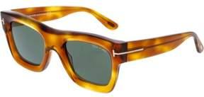 Tom Ford Men's Wagner-02 FT0558-53N-52 Brown Rectangle Sunglasses