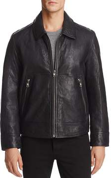 Andrew Marc Morrison Leather Bomber Jacket