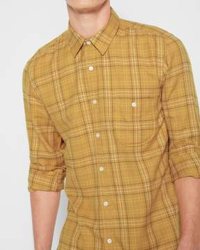 7 For All Mankind Long Sleeve Plaid Shirt in Ochre