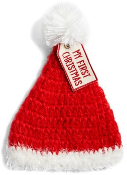 Mud Pie Infant Crochet My First Christmas Santa Hat - Red