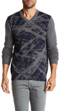 Autumn Cashmere Paint Scratch Print Cashmere Sweater