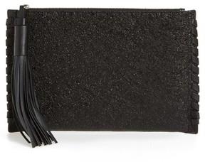AllSaints Kepi Leather Zip Pouch - Black