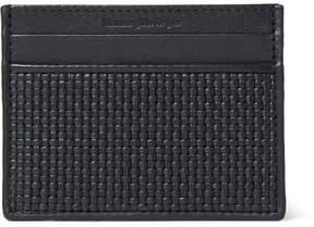 Ermenegildo Zegna Pelle Tessuta Leather Cardholder