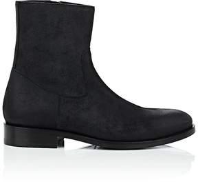 Balenciaga Men's Waxed Suede Boots