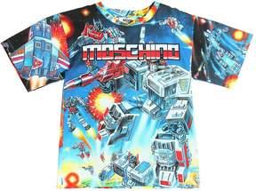 Moschino Transformers Print Cotton Jersey T-Shirt