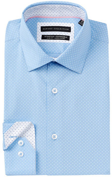 Report Collection Oxford Diamond Print Slim Fit Dress Shirt
