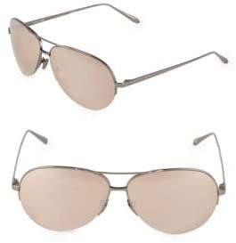 Linda Farrow 63MM Aviator Sunglasses