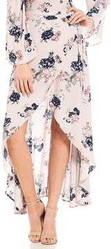 Chelsea & Violet C&V Coordinating Floral Print Wrap Skirt