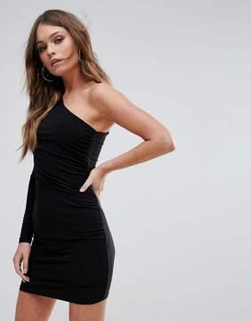Club L One Shoulder Slinky Mini Dress